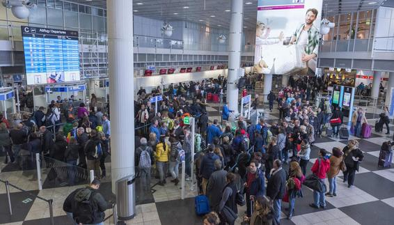 The busiest weekend in the airport's history