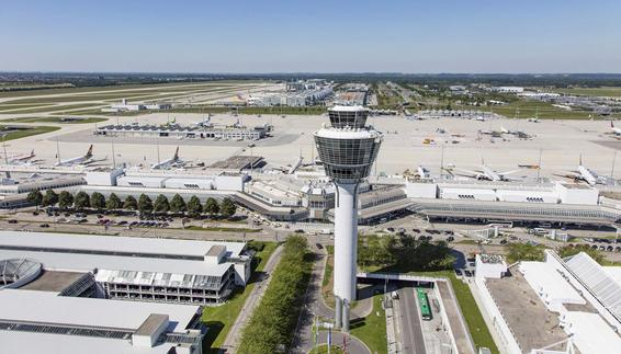 Aerial view of Munich Airport