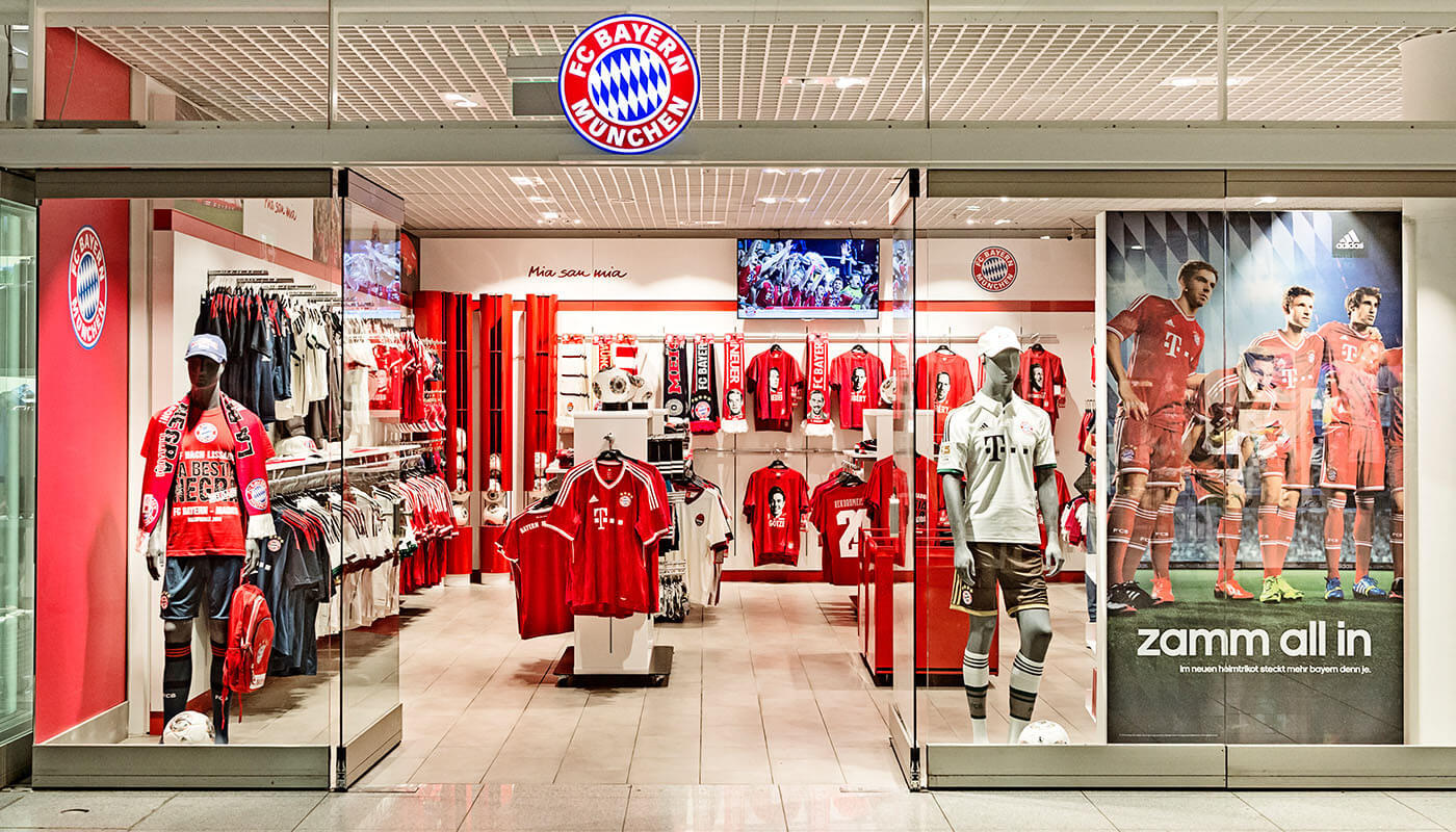fc bayern munich fan shop munich airport. Black Bedroom Furniture Sets. Home Design Ideas