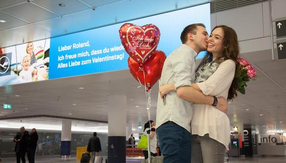 Valentine's Day at Munich Airport
