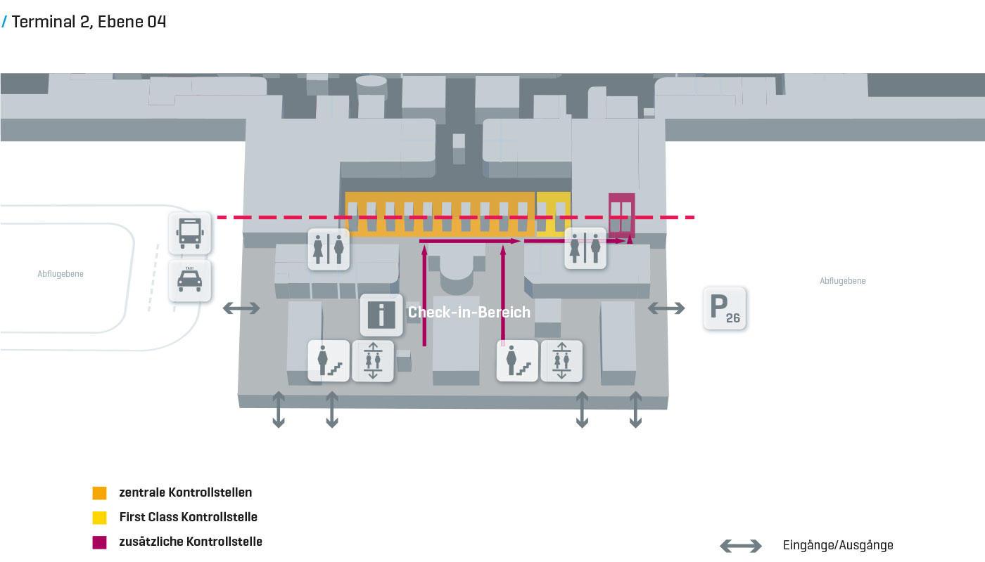 munich airport terminal 2 map