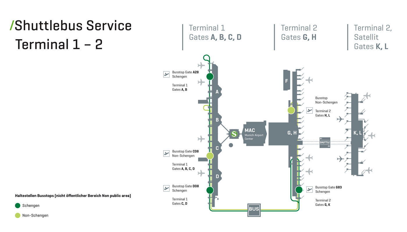 map of munich airport terminal 2 Transit At Munich Airport Munich Airport map of munich airport terminal 2